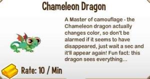 Giới thiệu về Chameleon Dragon trong game Dragon City, chameleo dragon city, game dragon city, cac loai rong trong game dragon city,